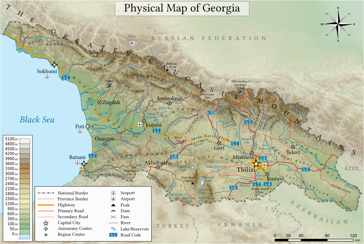 Map Of Georgia Physiographic Regions.Georgia Physiographic Regions Map Geography Of Georgia Country