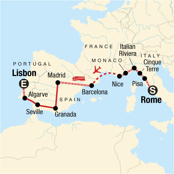 Map Of Spain In Europe.Georgia Power Map Rome To Lisbon On A Shoestring In Spain Europe G