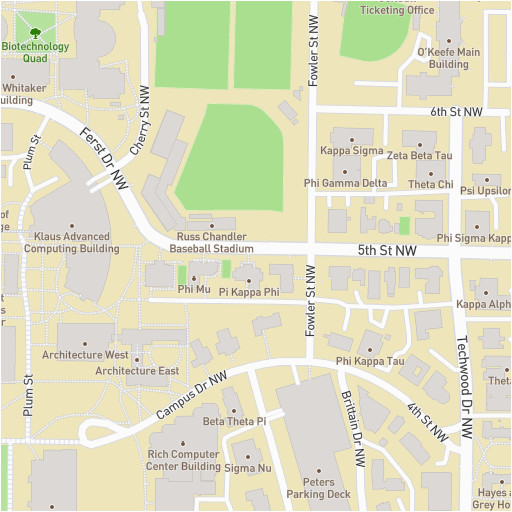Google Map Of Georgia.Georgia Tech Google Maps Gt Georgia Institute Of Technology Campus