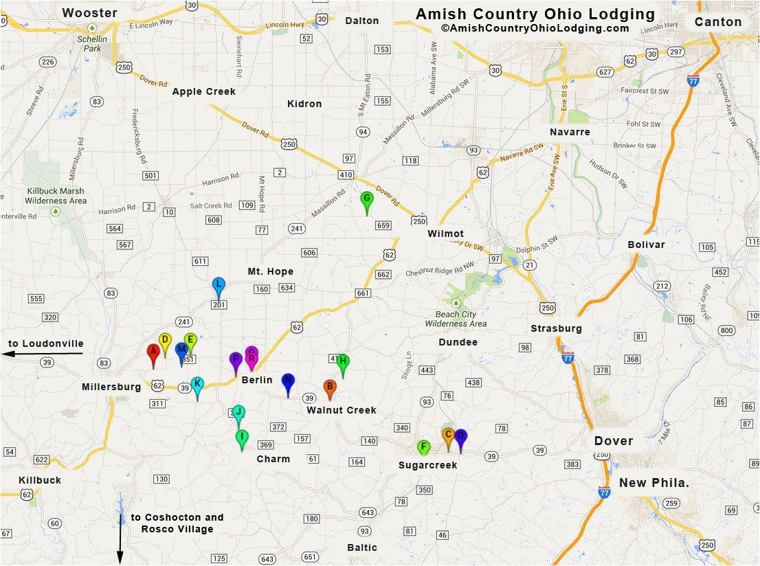 amish country ohio amish country ohio lodging google map