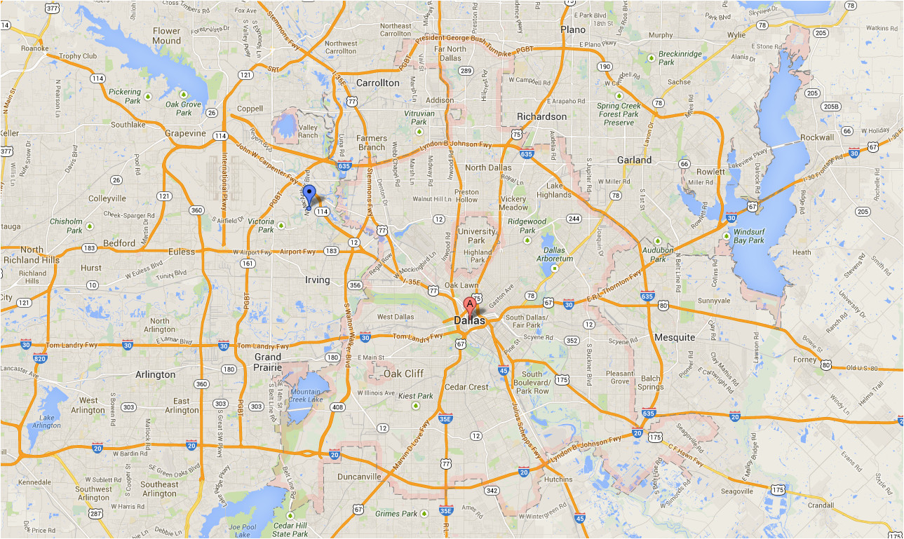 Google Maps Colorado River Dallas Texas Maps Google Business ...
