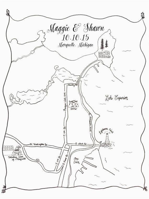 custom wedding map printable diy map of wedding ceremony and
