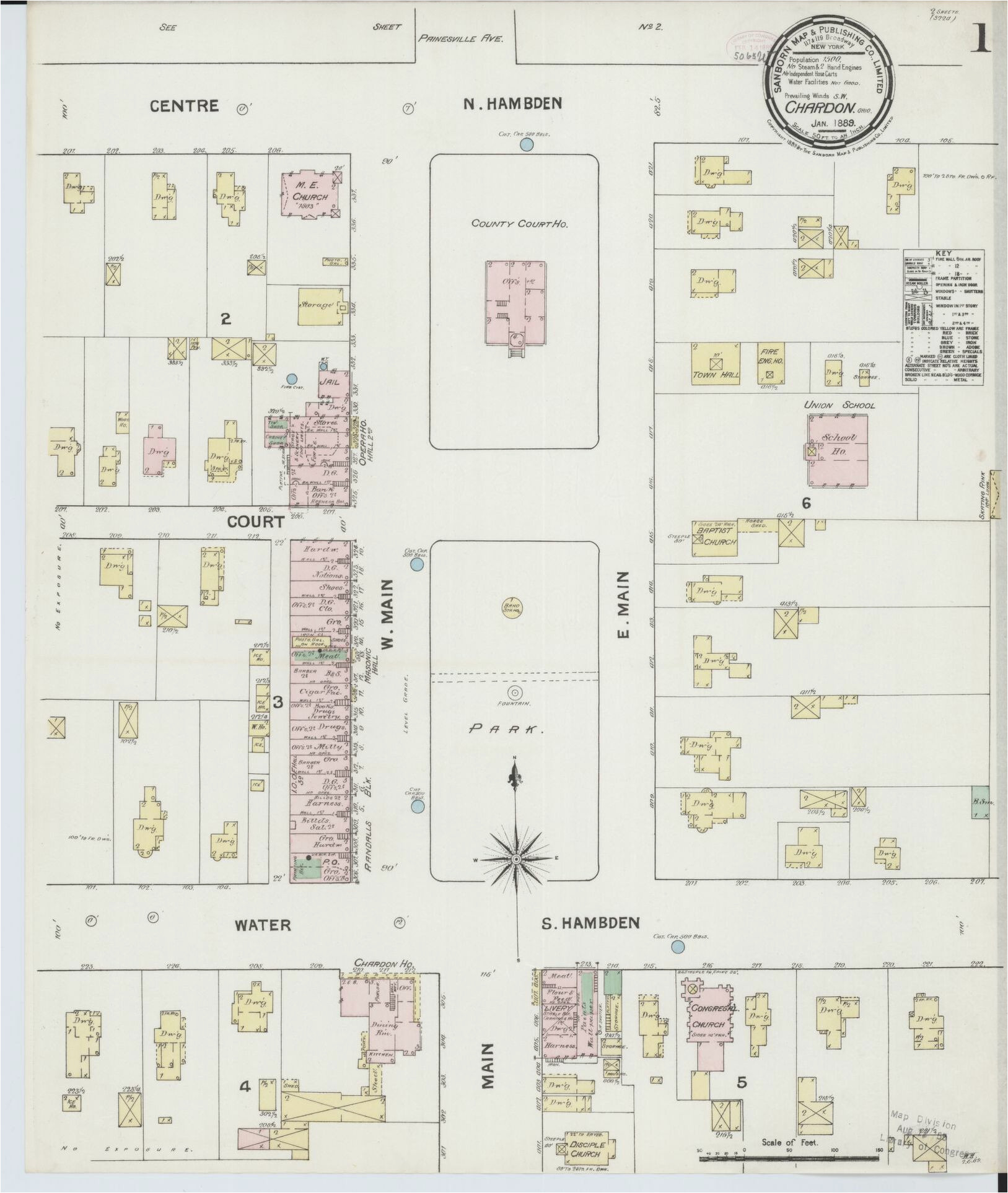 Hardin County Ohio Map Sanborn Fire Insurance Map From Chardon
