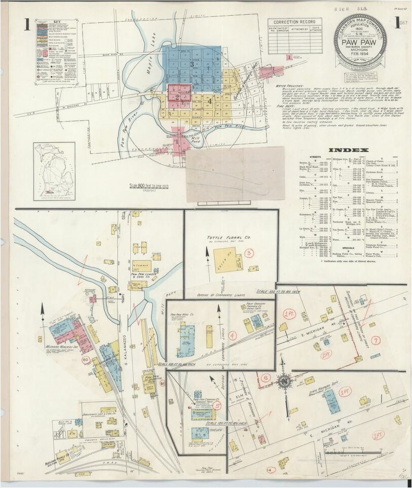 map 1900 to 1999 michigan library of congress