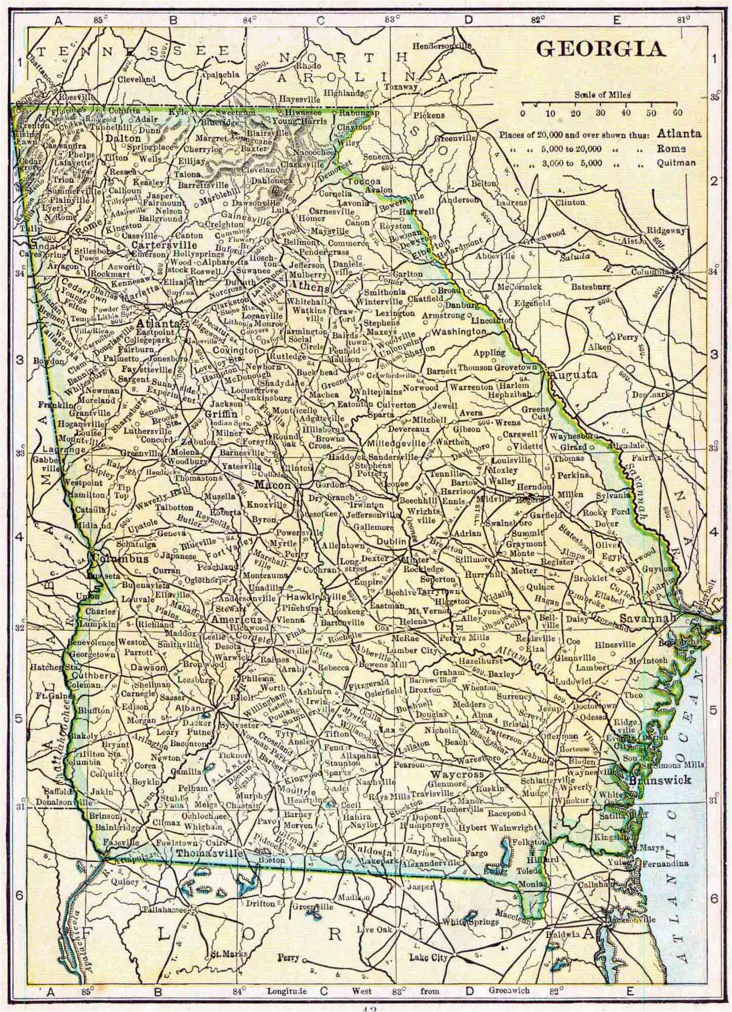 map of henry county ga new georgia genealogy free georgia genealogy