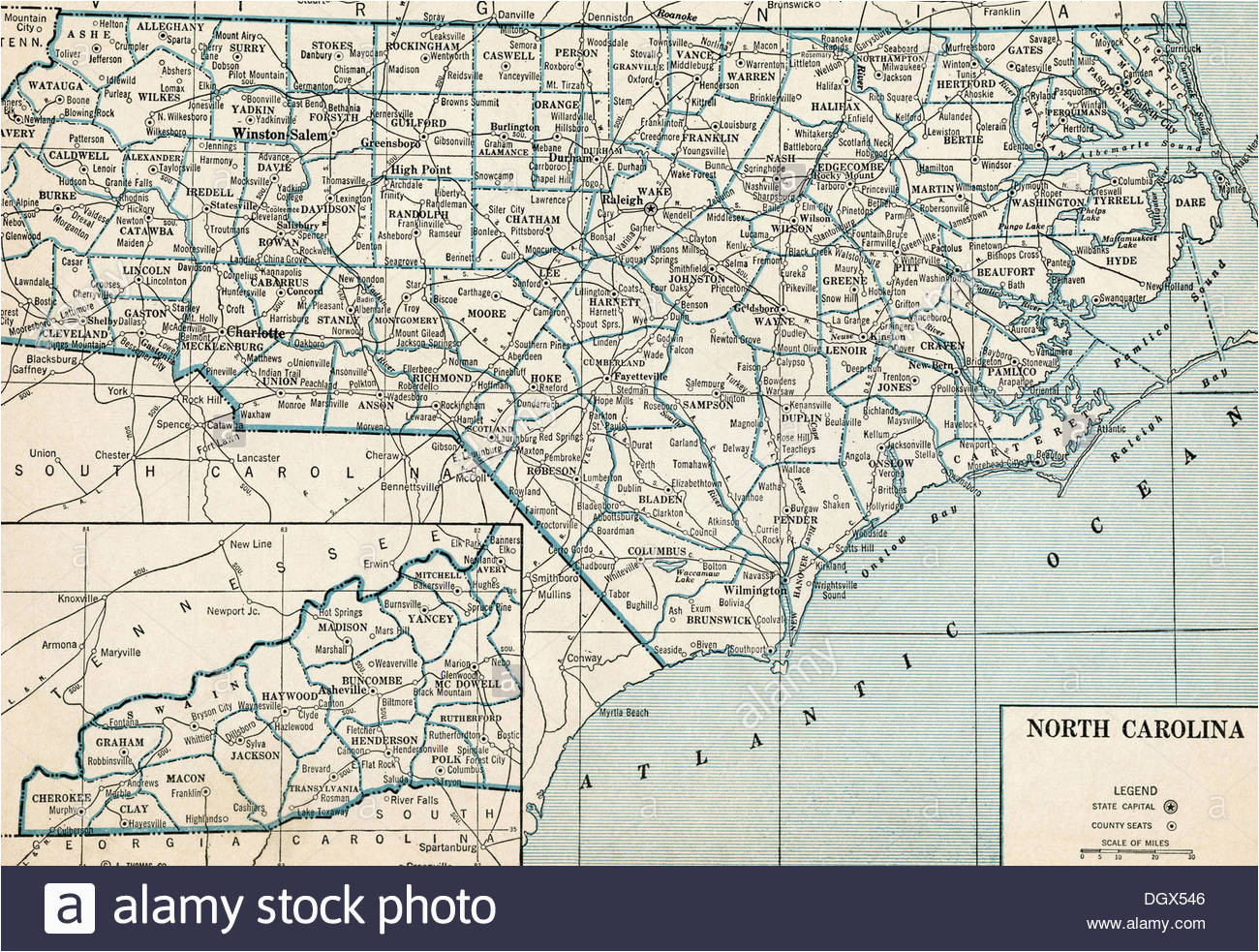 north carolina state map stock photos north carolina state map