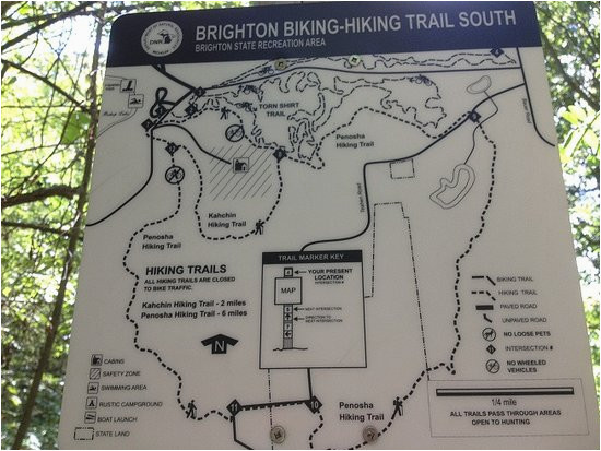 trail map picture of brighton recreation area howell tripadvisor