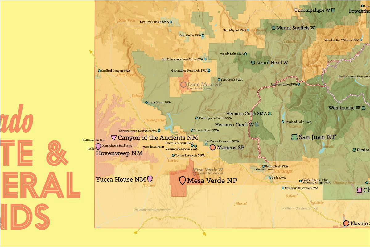 amazon com best maps ever colorado state parks federal lands map