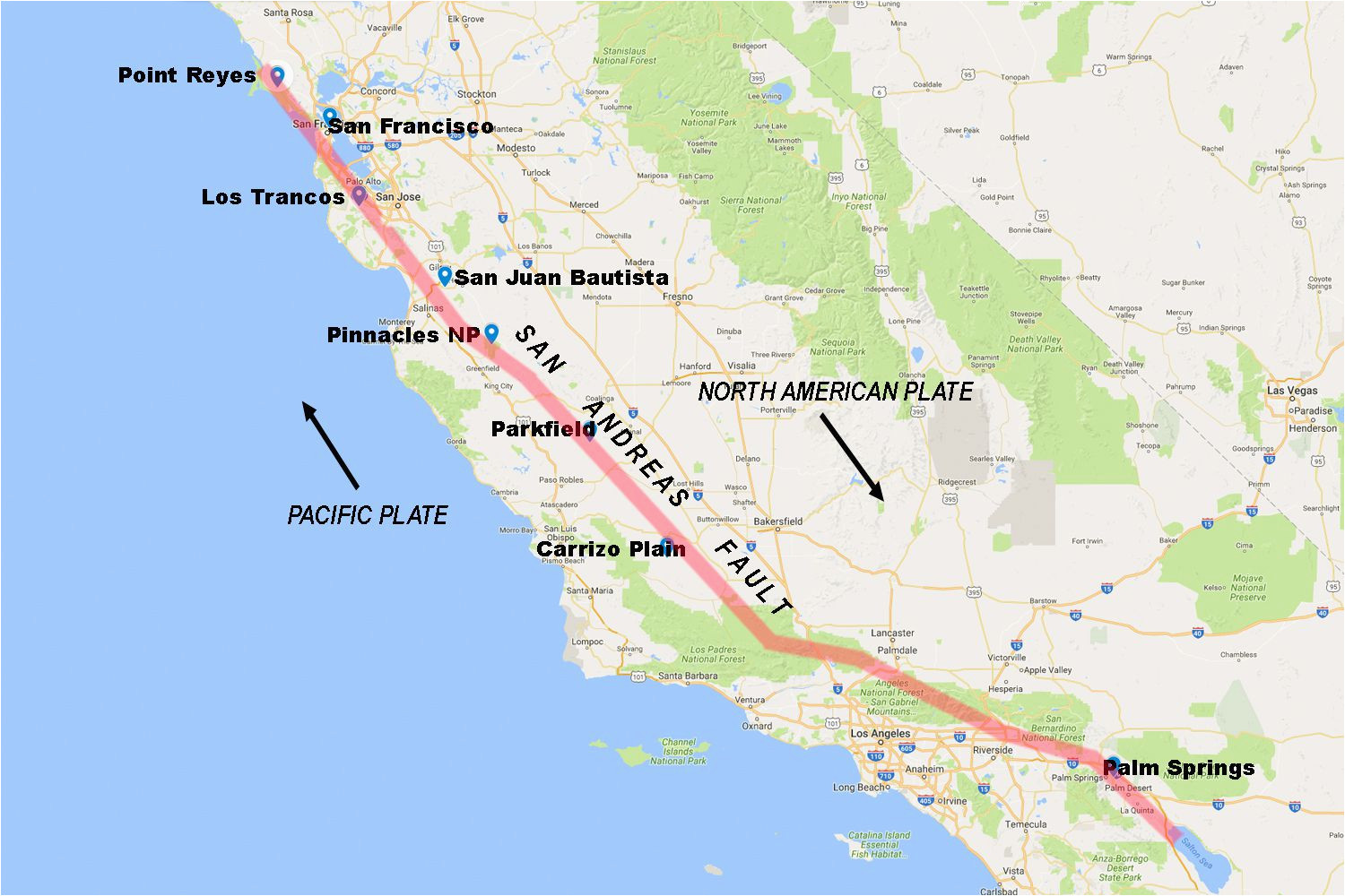 pictures of the san andreas fault in california
