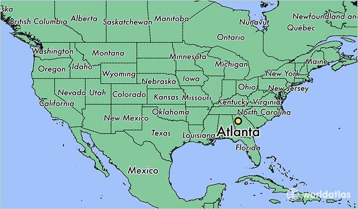 where is atlanta ga atlanta georgia map worldatlas com