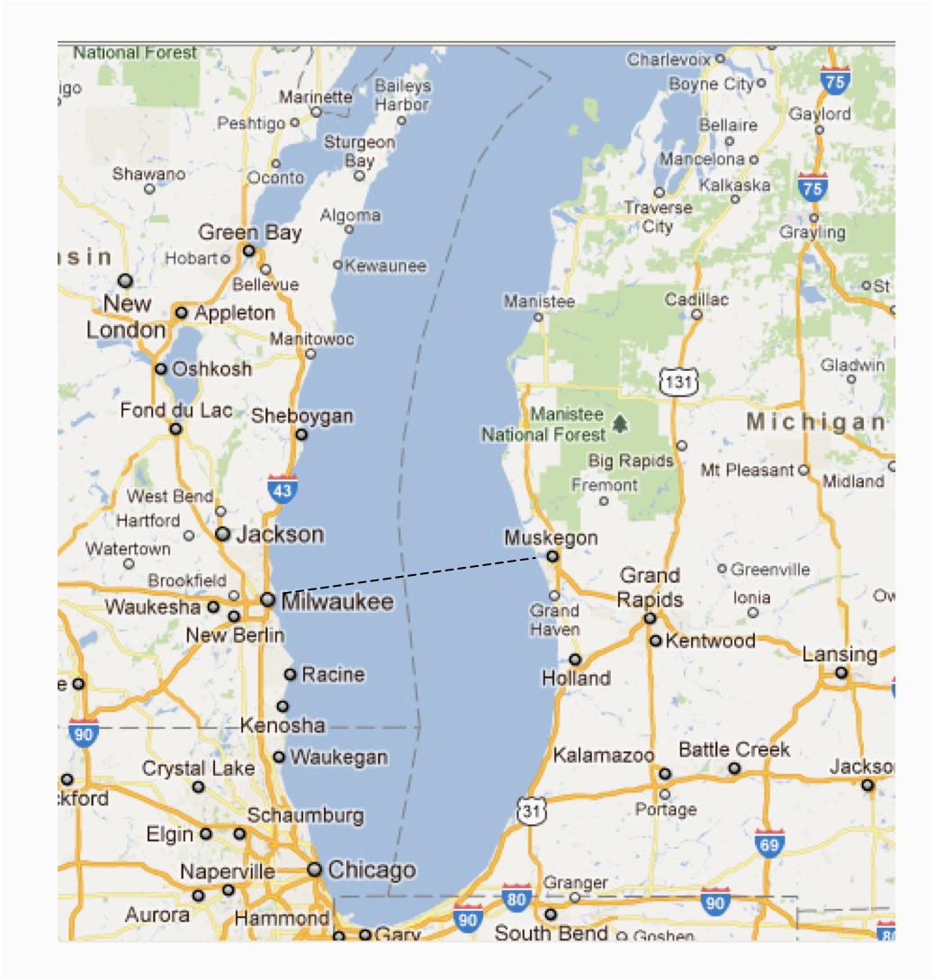 Lake Michigan Ferry Routes Map | secretmuseum