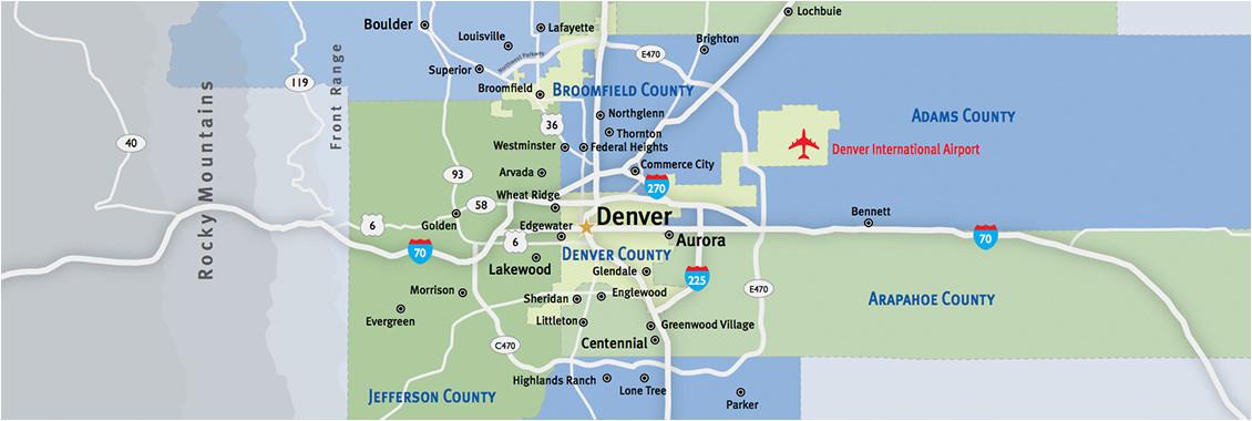 denver metro map unique denver county map beautiful city map denver