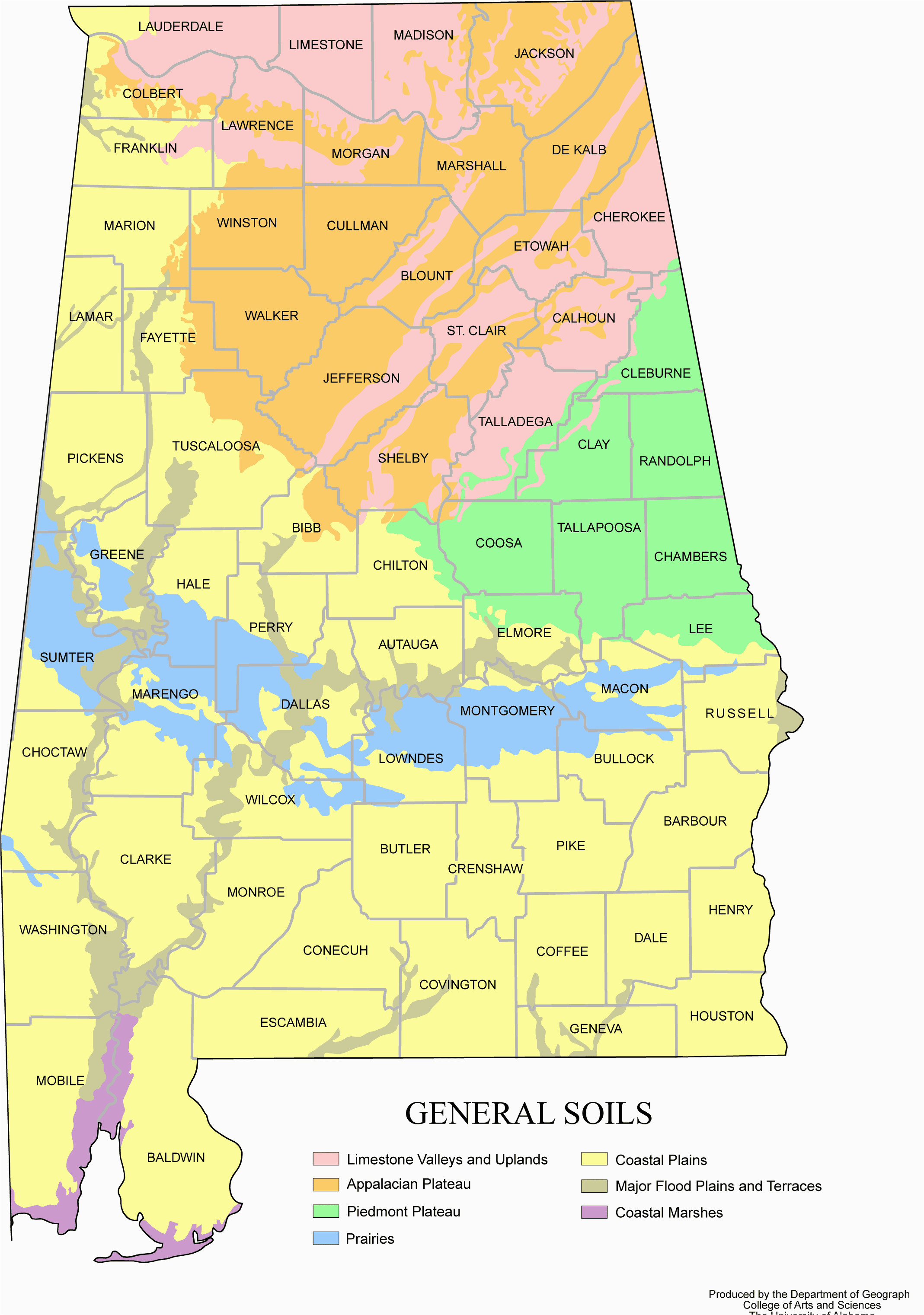 alabama map soils large map