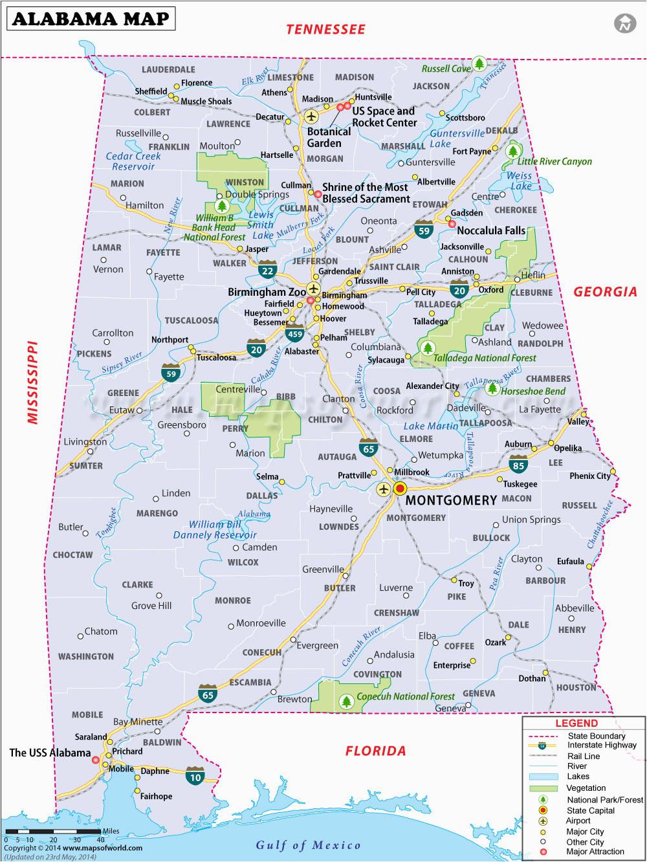 large detailed map of alabama unique map of alabama wallydogwear com