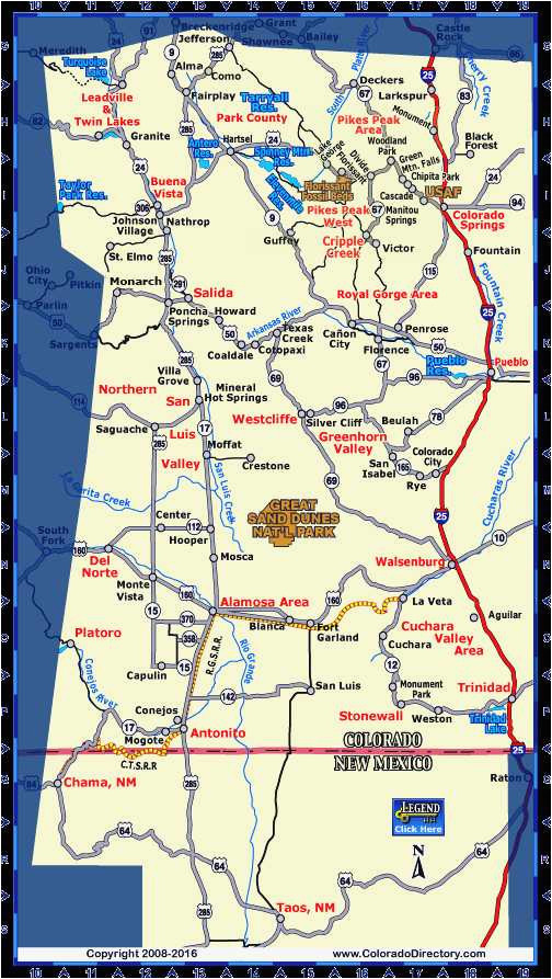 Larkspur Colorado Map 34 Colorado Highway Map Maps Directions