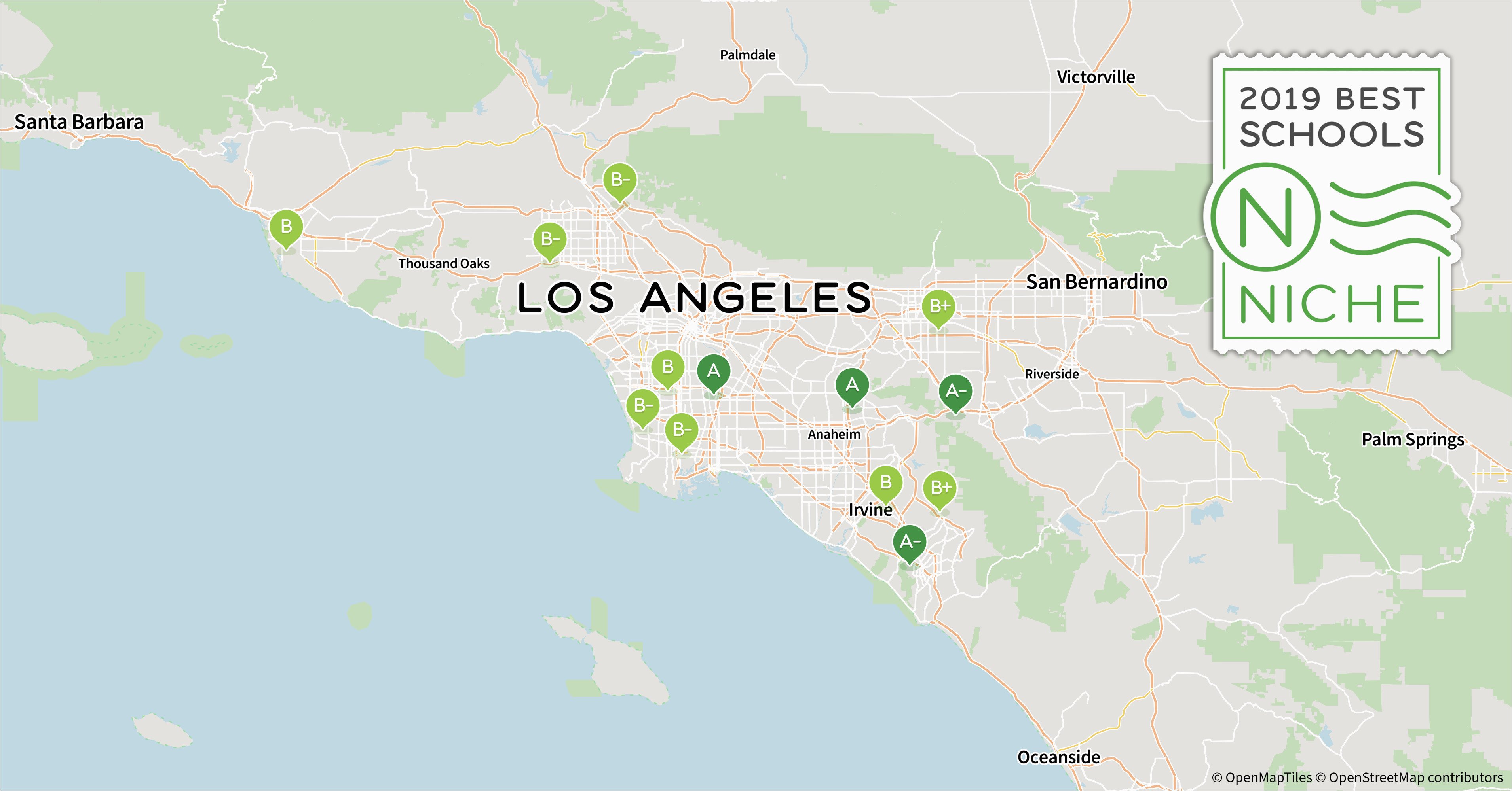 Law Schools In California Map 2019 Best Private High Schools