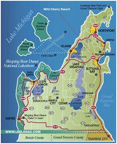 Leland Michigan Map 27 Best Leelanau Peninsula Michigan Images Michigan northern