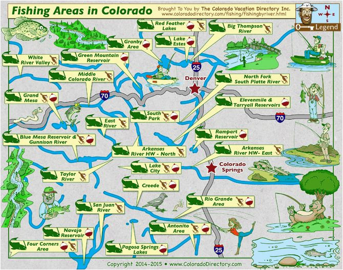 Map Creede Colorado Colorado Map Of Fishing In Rivers Lakes Streams Reservoirs