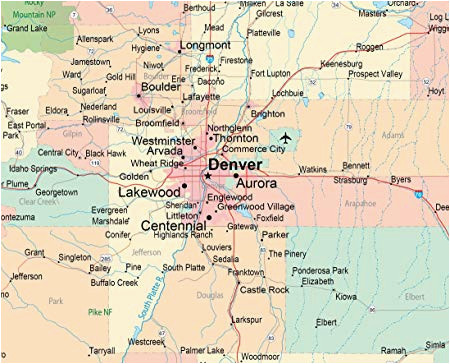 Map Evergreen Colorado Map Evergreen Colorado Amazon Push Pin Travel Maps Colorado