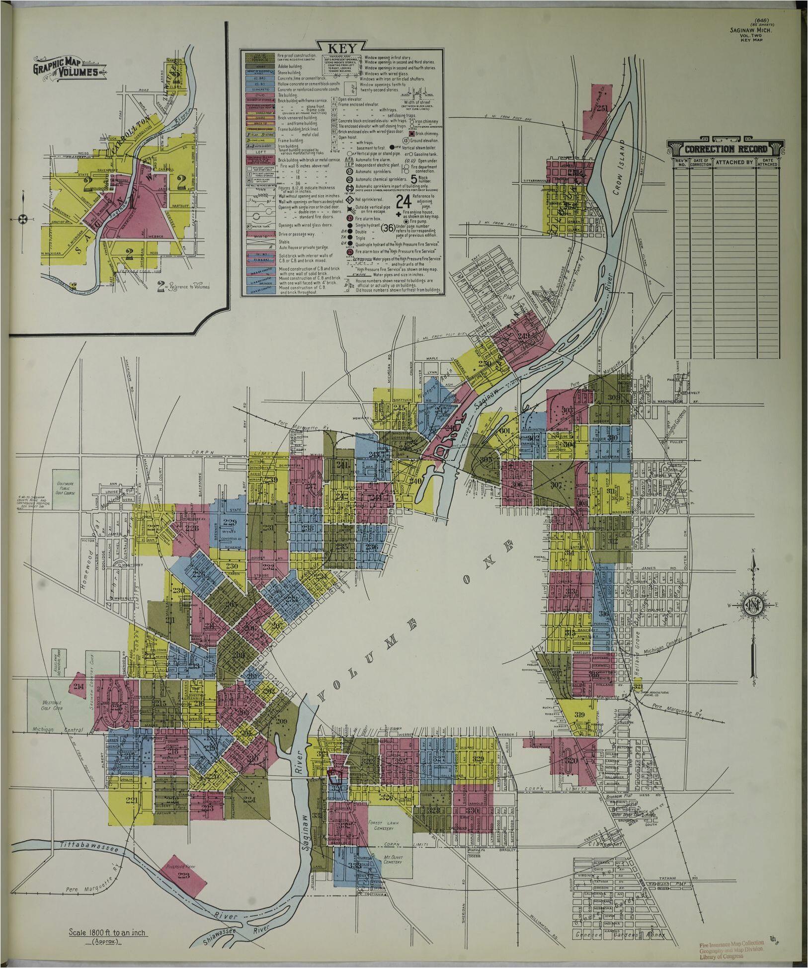 sanborn maps michigan saginaw county library of congress