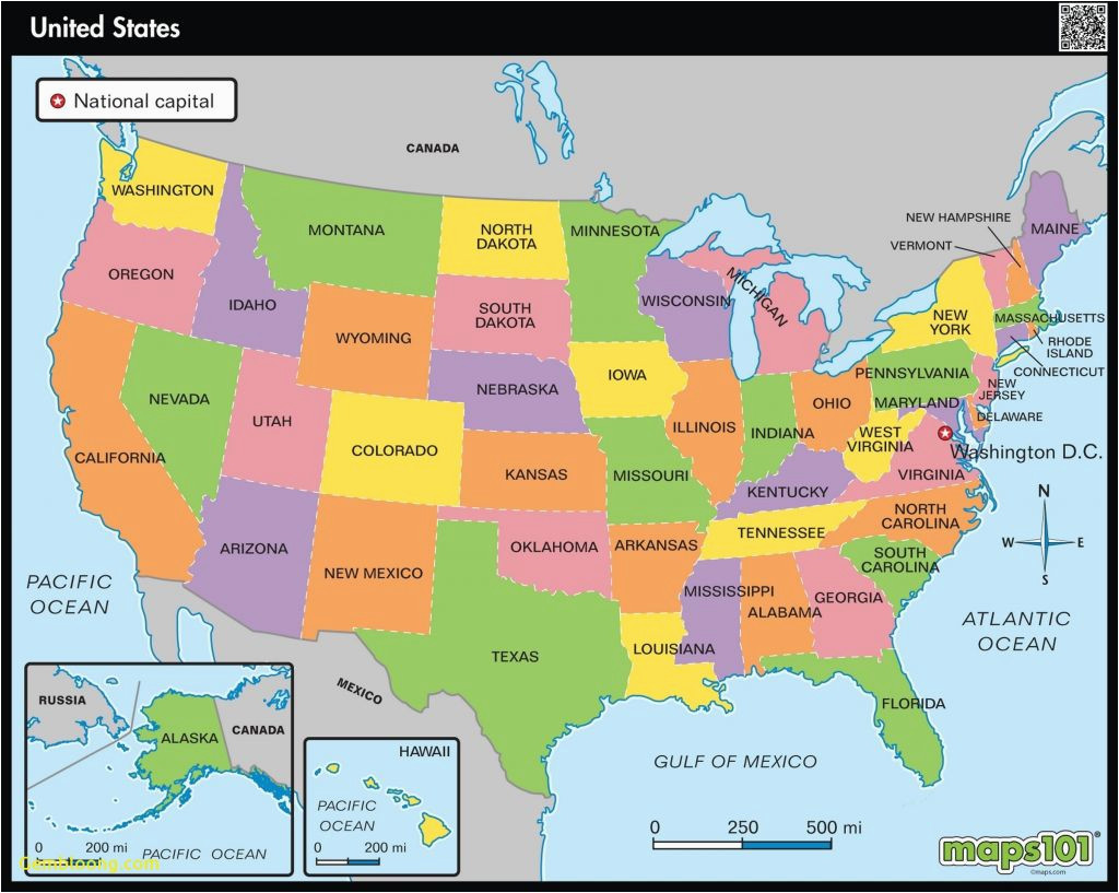 united states map showing colorado new a map the united states new