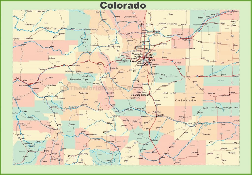 Map Lakewood Colorado United States Map Showing Colorado New ...