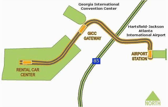 atlanta airport skytrain map atlanta airport atlanta airport