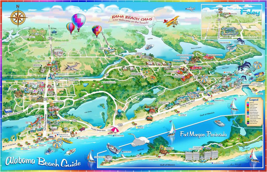 illustrated maps alabama beach guide illustrated map maps