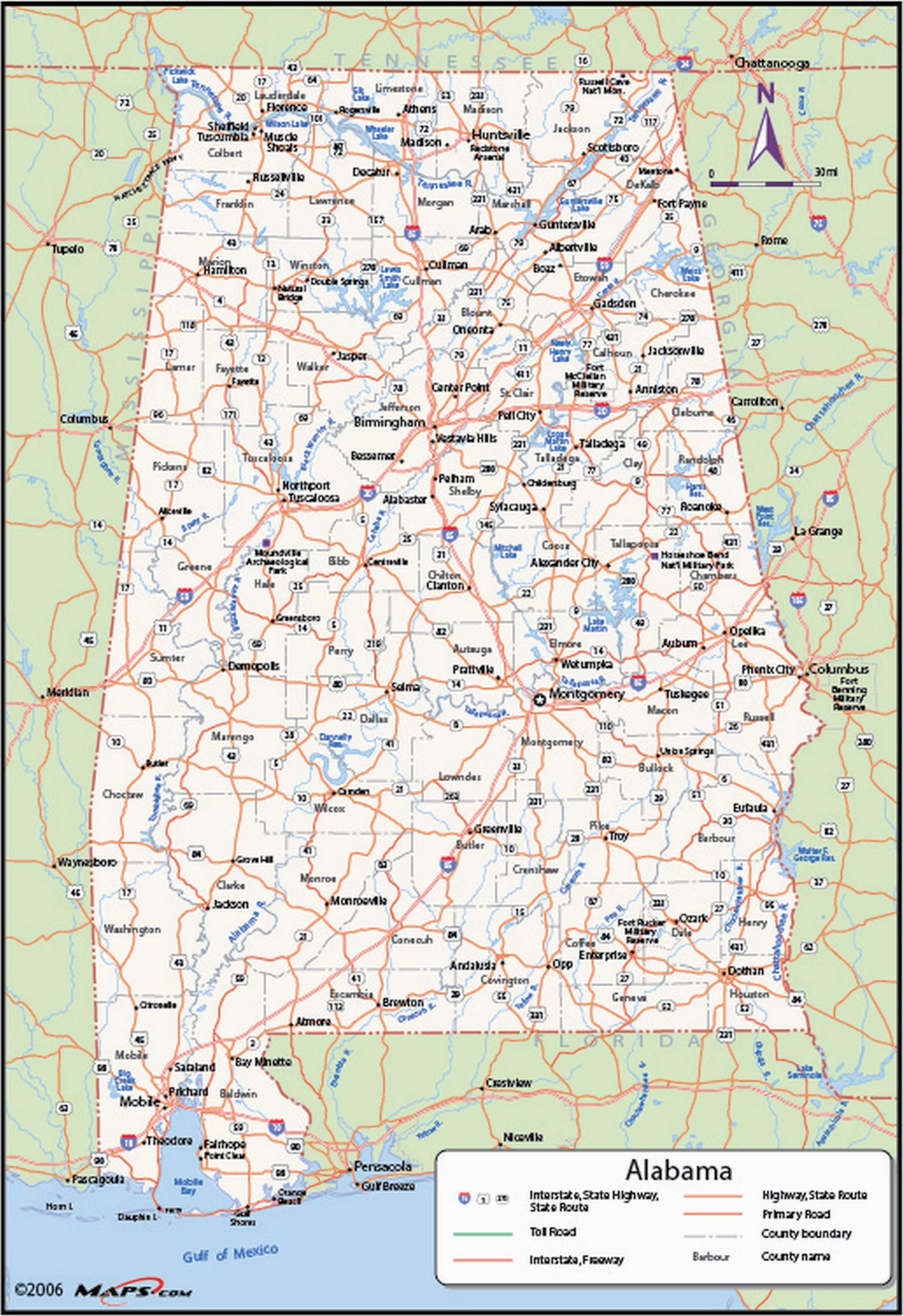 alabama counties wall map maps com