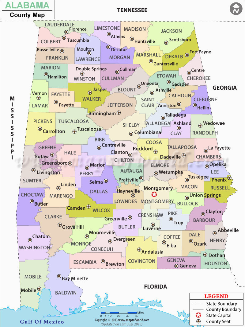 alabama county map alabama counties