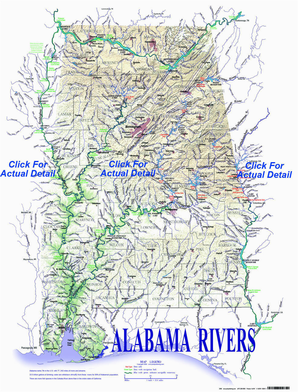 alabama rivers and creeks map rivers and creeks of alabama tombigbee