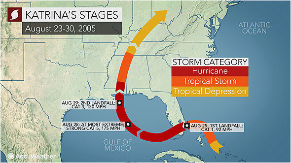 hurricane katrina at 10 new hd storm maps