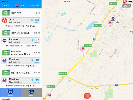 iexit gas cheapest gas prices by interstate exit app price drops