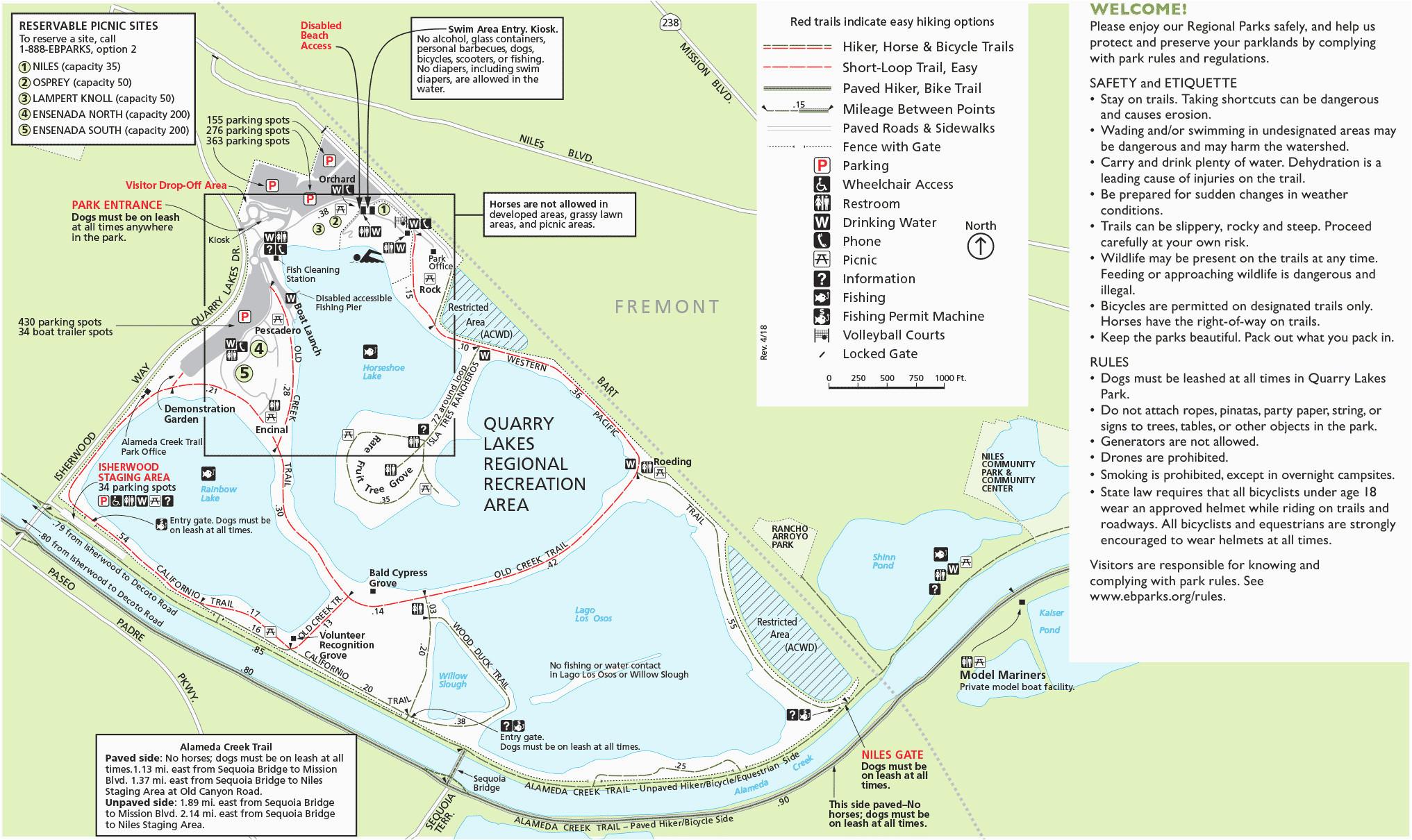 alameda county california map ebrpd quarry lakes world map of