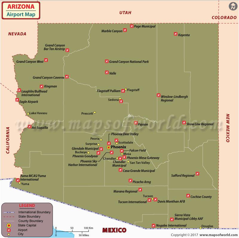 21 unique map of arizona airports bnhspine com