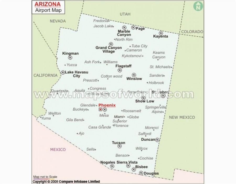 arizona airports map store mapsofworld pinterest map arizona