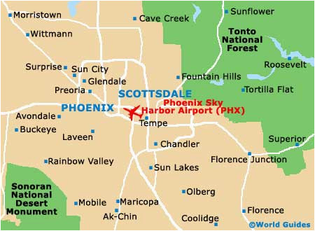 map of phoenix sky harbor airport phx orientation and maps for