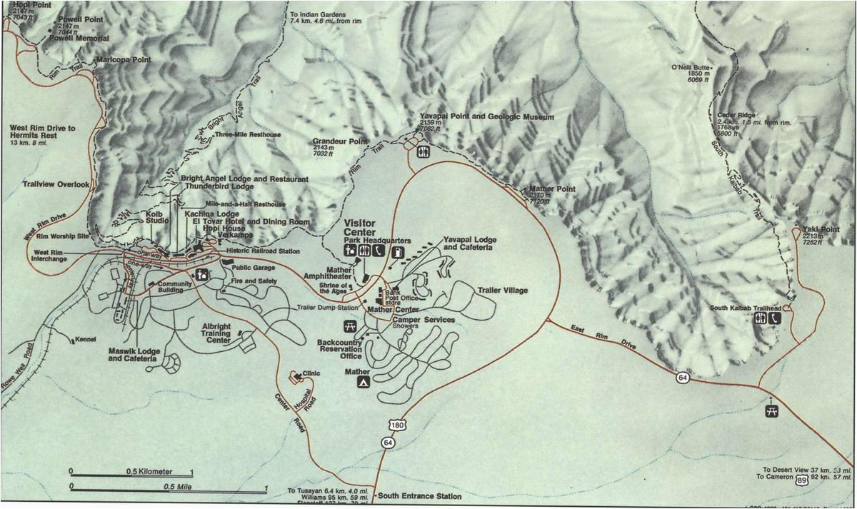 grand canyonfree maps of us