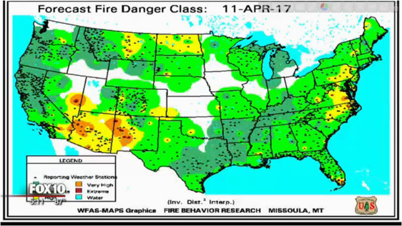 2017 wildfire season outlook for arizona most will happen in june
