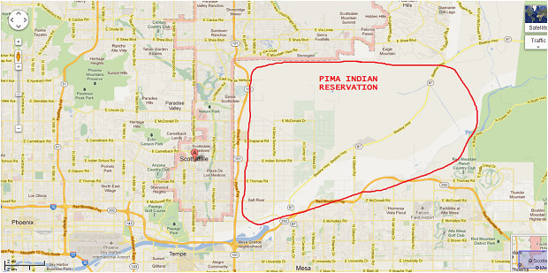 indian reservations in arizona map best of indian reservation map