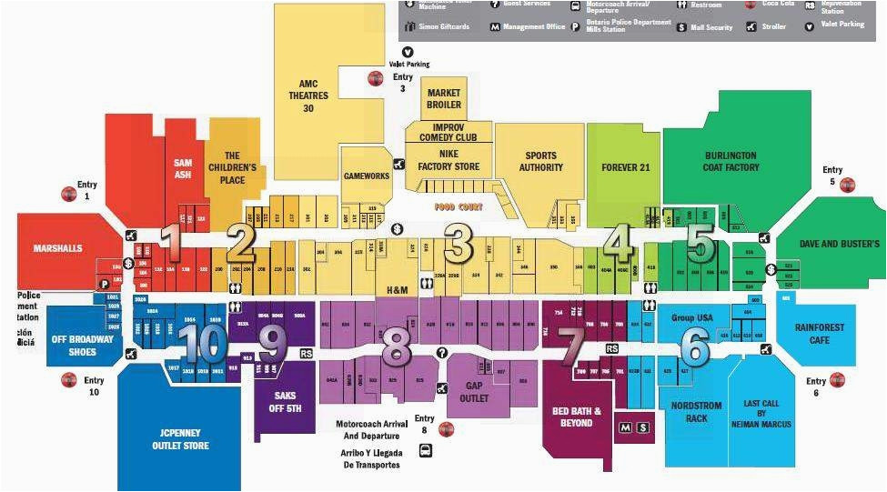 arizona mills mall map ny county map