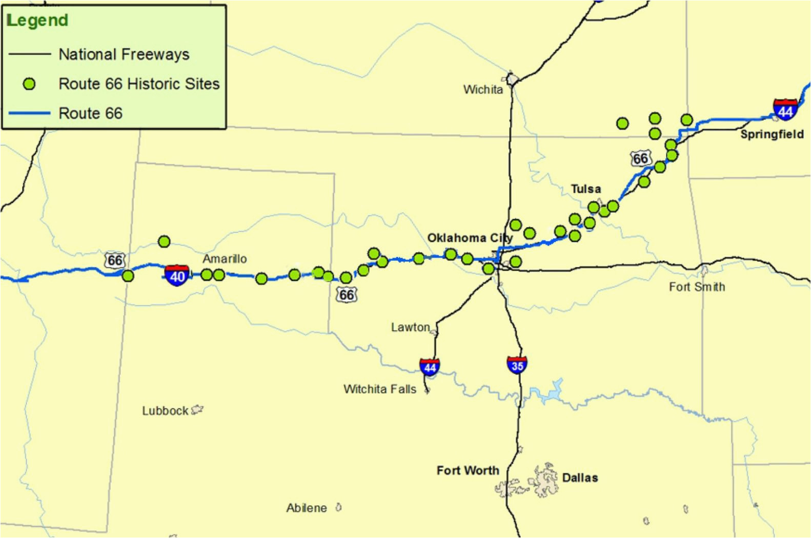 maps of route 66 plan your road trip