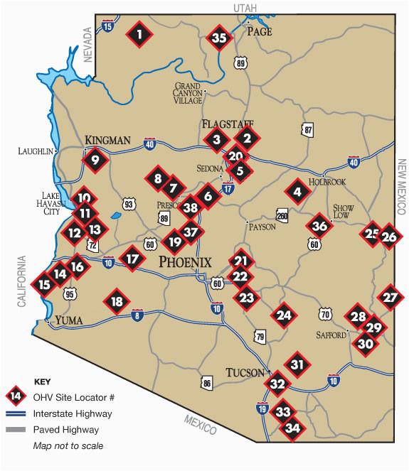 Map Of Arizona Rivers.Map Of Arizona Rivers Where To Ride Arizona State Parks Secretmuseum