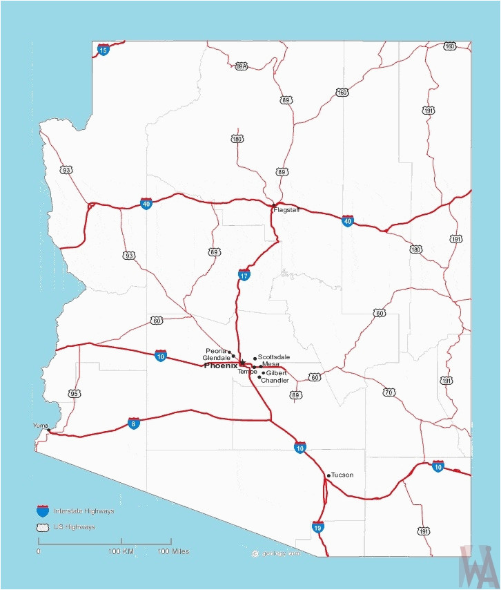 chandler arizona map awesome arizona roads map roads map of arizona