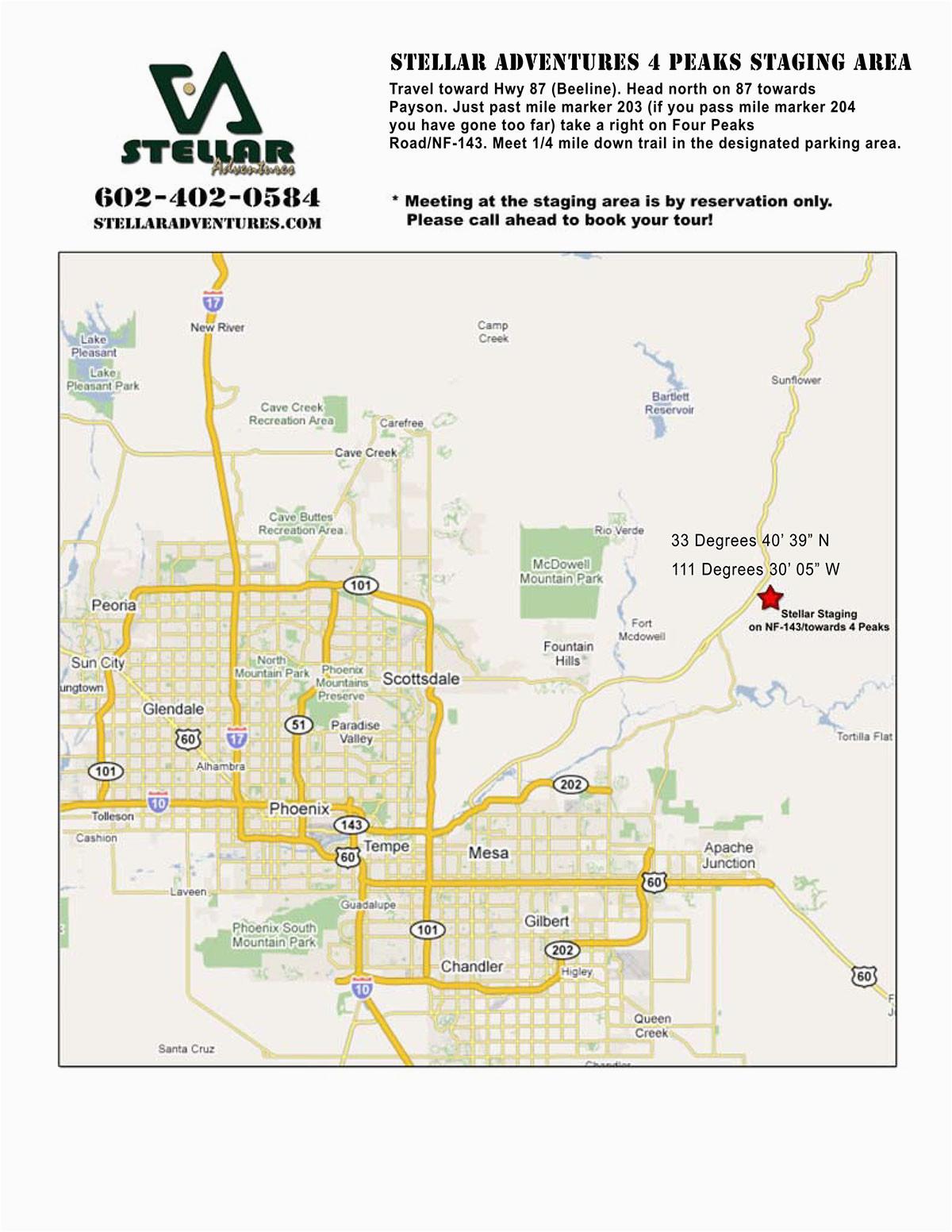 Map Of Arizona Scottsdale | secretmuseum