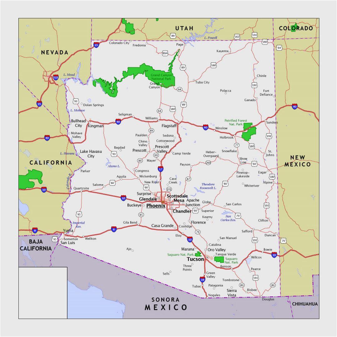 arizona national parks map elegant map california national parks
