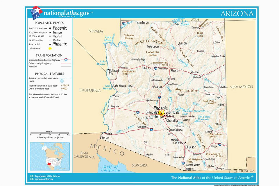 Map Of Arizona With Major Cities.Map Of Arizona With Major Cities Secretmuseum