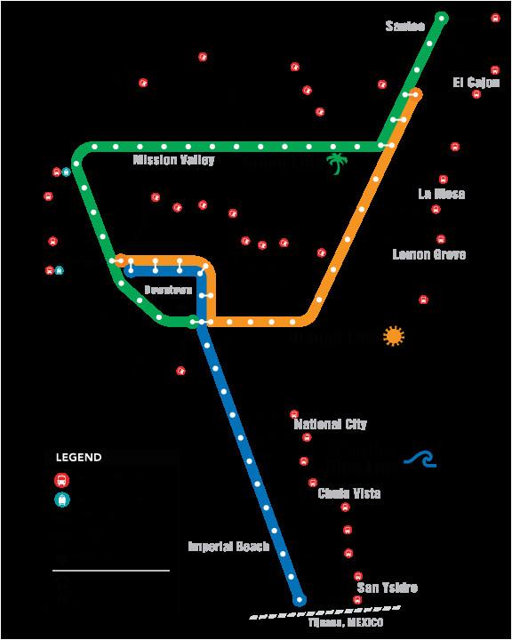 trolley system map san diego trip pinterest san diego san