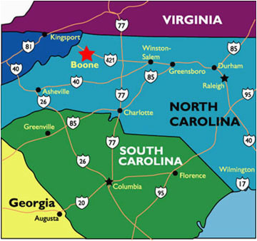 carolina mountain maps and weather cabin rentals boone north