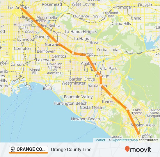 orange county line route time schedules stops maps